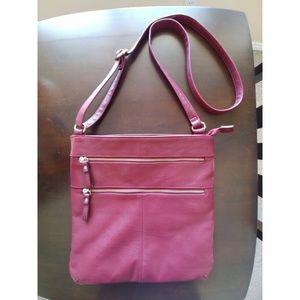 Merona Burgundy Crossbody Handbag